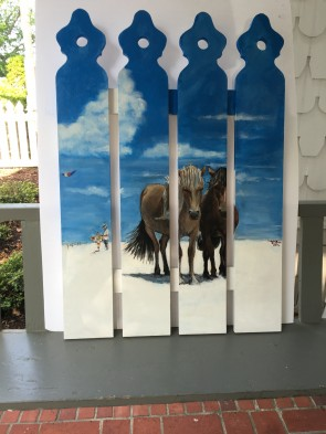 Assateague Beauties, by Cherry Dearie.  Located at the RMI