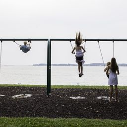 Children love to swing in Oxford Park!